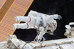 December 21, 2015 - Space - Just before the 15th anniversary of continuous human presence on the International Space Station on Nov. 2, 2015, U.S. astronaut and commander of the current Expedition 45 crew, Scott Kelly, is breaking spaceflight records. On Friday, Oct. 16, Kelly begins his 383rd day living in space, surpassing U.S. astronaut Mike Fincke's record of 382 cumulative days. Kelly will break another record Oct. 29 on his 216th consecutive day in space, when he will surpass astronaut Michael Lopez-Alegria's record for the single-longest spaceflight by an American. Lopez-Alegria spent 215 days in space as commander of the Expedition 14 crew in 2006. (Credit Image: ? NASA /ZUMA Wire/ZUMAPRESS.com)