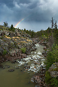 Stream with rainbow in the Shoshone National Forest