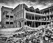 Ghent, Belgium, 16 jul 2013, Reconstruction of the old Ziegler warehouses.