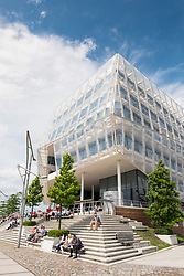 Modern headquarters of Unilever in Hafencity Hamburg Germany