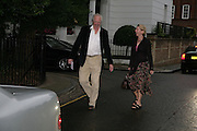 SIR TIM RICE, Sir David and Lady Carina Frost annual summer party, Carlyle Sq. London. 5 July 2007  -DO NOT ARCHIVE-© Copyright Photograph by Dafydd Jones. 248 Clapham Rd. London SW9 0PZ. Tel 0207 820 0771. www.dafjones.com.