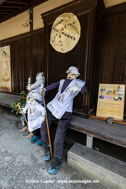 """Henro Doll - The Shikoku pilgrimage route is one of the few circular-shaped pilgrimages in the world. It includes 88 official temples and numerous other sacred sites asscoaited with Kobo Daishi. Walking henro pilgrims take some 6 weeks to complete the journey - the entire route is about 1200 kilometers long which allows one to experience the natural surroundings of Shikoku and presents pilgrims with numerous opportunities to mix with the local people. Henro pilgrims undertake this trip for various reasons but the most underlying one is to """"walk with Kobo Daishi"""" as it is believed that Kukai is accompanying them on this journey."""