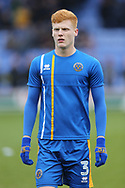 3 Ryan Haynes for Shrewsbury Town during the The FA Cup 3rd round match between Shrewsbury Town and Stoke City at Greenhous Meadow, Shrewsbury, England on 5 January 2019.