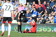 Cardiff City's Kim Bo-Kyung has words with the referee Martin Atkinson during the Barclays Premier league, Cardiff city v Fulham at the Cardiff city Stadium in Cardiff , South Wales on Sat 8th March 2014. pic by Jeff Thomas/Andrew Orchard sports photography
