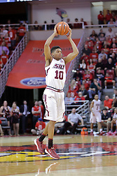 22 February 2017:  Aaron Cook during a College MVC (Missouri Valley conference) mens basketball game between the Southern Illinois Salukis and Illinois State Redbirds in  Redbird Arena, Normal IL