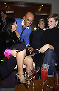 Fran Cutler, Christian Louboutin and Kate Moss.<br />