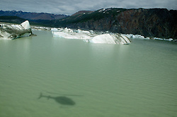 Lowell Lake With Hleicopter Shadow