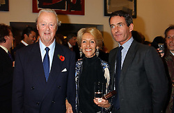 Left to right, the DUKE & DUCHESS OF MARLBOROUGH and TIM JEFFERIES at a private view of paintings by Rosita Marlborough (The Duchess of Marlborough) held at Hamiltons gallery, Carlos Place, London W1 on 9th November 2005.<br /> <br /> NON EXCLUSIVE - WORLD RIGHTS