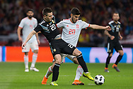 Giovani Lo Celso of Argentina and Marco Asensio of Spain during the International friendly game football match between Spain and Argentina on march 27, 2018 at Wanda Metropolitano Stadium in Madrid, Spain - Photo Rudy / Spain ProSportsImages / DPPI / ProSportsImages / DPPI