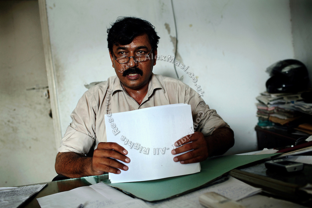 Moinuddin Syed, 42, the AVCC (Anti-Violence Crime Cell) second in command, is sitting at his desk in Karachi where he usually analyse information and prepare raids. The AVCC is a special police unit mostly involved in anti-terrorism operations and kidnap cases in the city.