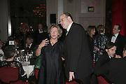 Rosie Boycott and Mark Lawson,  Costa Book Awards 2006. Grosvenor House Ballroom. Park Lane, London. 7 February 2007. -DO NOT ARCHIVE-© Copyright Photograph by Dafydd Jones. 248 Clapham Rd. London SW9 0PZ. Tel 0207 820 0771. www.dafjones.com.
