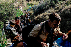 Nov. 26, 2015 - Midilli, Yunanistan - A group of Syrian refugees has arrived to Lesvos Island of Greece this morning. Refugees came from Turkey shores with a boat illegally. Each day some 1000 refugees are arriving on Greece's shores for almost an hour boat trip. Refugees are coming to Greece to reach Europe states. (Credit Image: © Depo Photos via ZUMA Wire)