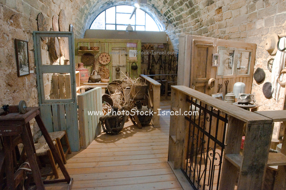 Israel, Western Galilee, the old City of Acre Interior of the museum