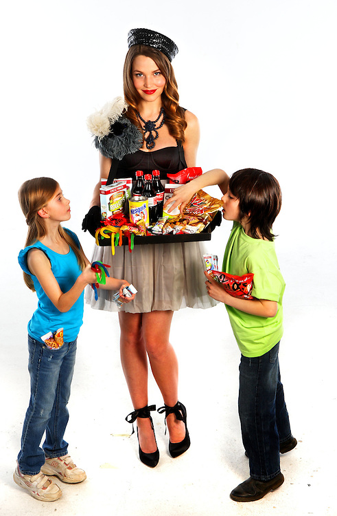 Models  left to right  Chantelle, Denisa and Jay, imagining what it would look like if the old time cigarette girls served lollies  Pic By Craig Sillitoe  08/08/2009 SPECIAL 000 melbourne photographers, commercial photographers, industrial photographers, corporate photographer, architectural photographers, This photograph can be used for non commercial uses with attribution. Credit: Craig Sillitoe Photography / http://www.csillitoe.com<br /> <br /> It is protected under the Creative Commons Attribution-NonCommercial-ShareAlike 4.0 International License. To view a copy of this license, visit http://creativecommons.org/licenses/by-nc-sa/4.0/.