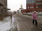 Strassenszene in der sibirischen Hauptstadt Nowosibirsk.<br /> <br /> Street scene in the Sibirian capital Novosibirsk.