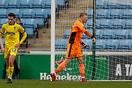 Wimbledon goalkeeper Aaron Ramsdale (35), on loan from Bournemouth,  during the EFL Sky Bet League 1 match between Coventry City and AFC Wimbledon at the Ricoh Arena, Coventry, England on 12 January 2019.