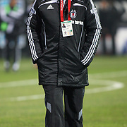 Besiktas's coach Bernd SCHUSTER during their Turkish Superleague Derby match Besiktas between Fenerbahce at the Inonu Stadium at Dolmabahce in Istanbul Turkey on Sunday, 20 February 2011. Photo by TURKPIX