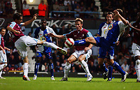 Photo: Olly Greenwood.<br />West Ham United v Blackburn Rovers. The Barclays Premiership. 29/10/2006.  West Ham's Yossi Benayoun and Blackburn's Zura Khizanishvili