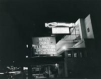 1955 Crescendo Nightclub on Sunset Blvd. in West Hollywood
