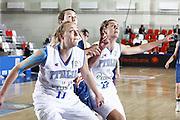 DESCRIZIONE : Valmiera Latvia Lettonia Eurobasket Women 2009 Francia Italia France Italy<br /> GIOCATORE : Thomas Ress Raffaella Masciadri<br /> SQUADRA : Italia Italy<br /> EVENTO : Eurobasket Women 2009 Campionati Europei Donne 2009 <br /> GARA : Francia Italia France Italy<br /> DATA : 07/06/2009 <br /> CATEGORIA : rimbalzo difesa<br /> SPORT : Pallacanestro <br /> AUTORE : Agenzia Ciamillo-Castoria/E.Castoria