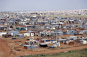 "View of the shantytown called ""Silvertown"", near Soweto, outside Johannesburg, South Africa. Material World Project."