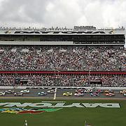 The start of the 56th Annual NASCAR Coke Zero 400 race at Daytona International Speedway on Sunday, July 6, 2014 in Daytona Beach, Florida.  (AP Photo/Alex Menendez)