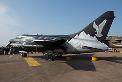 © Licensed to London News Pictures. 12/07/2014. RAF Fairford UK. Greece Airforce Corsair painted at a Pirate at the Royal International Air Tattoo at RAF Fairford. Photo credit : Ian Schofield/LNP