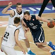 Anadolu Efes's Dusko SAVANOVIC (R) during their Turkish Airlines Euroleague Basketball Group C Game 6 match Anadolu Efes between Partizan at Sinan Erdem Arena in Istanbul, Turkey, Wednesday, November 23, 2011. Photo by TURKPIX