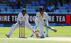 July 8, 2017 - London, United Kingdom - England's Keaton Jennings.during 1st Investec Test Match Day Three between England and South Africa at Lord's Cricket Ground in London on July 08, 2017  (Credit Image: © Kieran Galvin/NurPhoto via ZUMA Press)