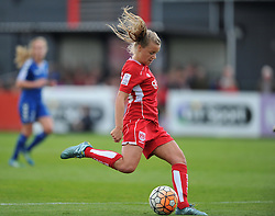 Olivia Fergusson of Bristol City Women shoots to score the opening goal against Durham Ladies - Mandatory by-line: Paul Knight/JMP - 24/09/2016 - FOOTBALL - Stoke Gifford Stadium - Bristol, England - Bristol City Women v Durham Ladies - FA Women's Super League 2