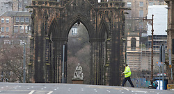 Scott Monument. Edinburgh city centre on Tuesday 25th March, after the Lockdown.