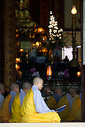 Buddhist monks and nuns pray at the Chua Dieu Vien Pagoda in Hue, Vietnam.  Photo by Stan Olszewski/SOSKIphoto