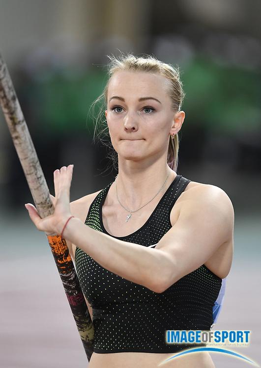Olga Mullina (RUS) places eighth in the women's pole vault at 14-6 3/4 (4.44m) in the 2018 IAAF Doha Diamond League meeting at Suhaim Bin Hamad Stadium in Doha, Qatar, Friday, May 4, 2018. (Jiro Mochizuki/Image of Sport)