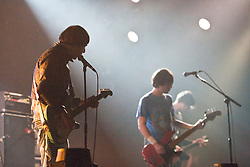 The Cribs plays the King Tuts Wah Wah tent. Friday at T in the Park 2012, held at Balado, in Fife, Scotland..