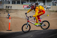 #113 (LU Yan) CHN at Round 3 of the 2020 UCI BMX Supercross World Cup in Bathurst, Australia.
