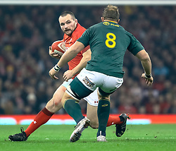Ken Owens of Wales under pressure from Duane Vermeulen of South Africa<br /> <br /> Photographer Simon King/Replay Images<br /> <br /> Under Armour Series - Wales v South Africa - Saturday 24th November 2018 - Principality Stadium - Cardiff<br /> <br /> World Copyright © Replay Images . All rights reserved. info@replayimages.co.uk - http://replayimages.co.uk