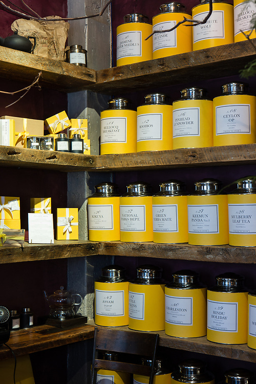 Teas for sale at Bellocq Tea Atelier.