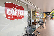 Stuart Coffee cafe in the historic downtown in Stuart, Florida. The tiny hamlet was founded in 1870 and was voted the Happiest Seaside Town in America by Coastal Living.