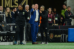 December 8, 2018 - Atlanta, GA, U.S. - ATLANTA, GA Ð DECEMBER 08:  Portland head coach Giovanni Savarese argues with the sideline official during the MLS Cup between the Portland Timbers and Atlanta United FC on December 8th, 2018 at Mercedes-Benz Stadium in Atlanta, GA.  (Photo by Rich von Biberstein/Icon Sportswire) (Credit Image: © Rich Von Biberstein/Icon SMI via ZUMA Press)