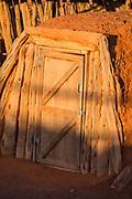 Hogan Village in Monument Valley Navajo Tribal Park, Arizona, USA.