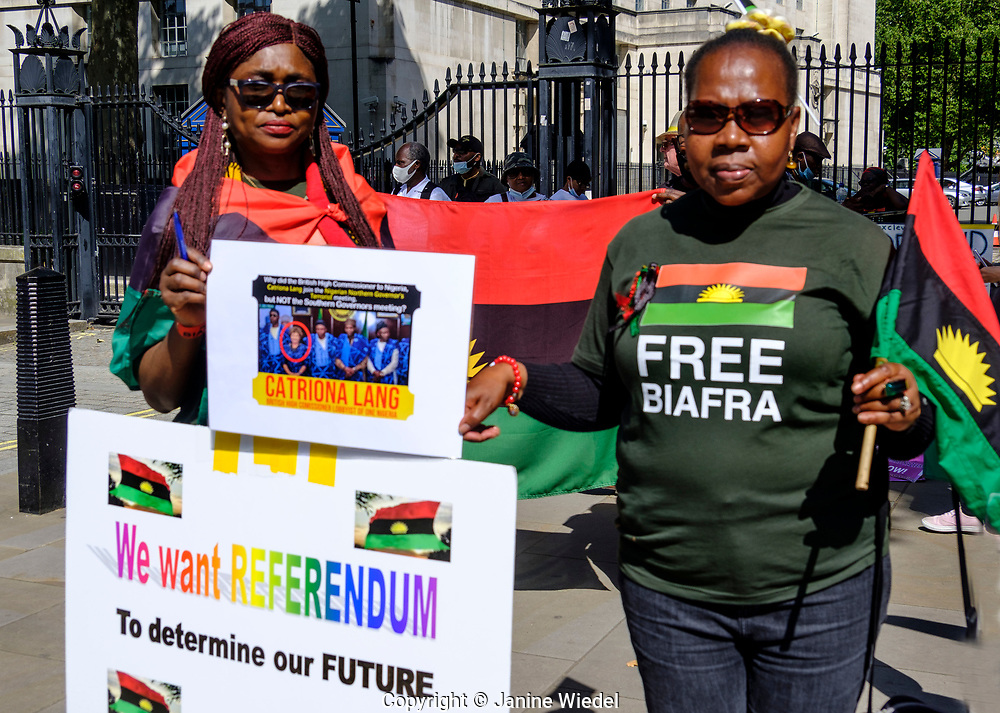 Free Biafran protest on Whitehall