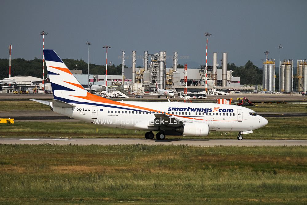 Czech Smartwings Boeing 737-700, (OK-SWW), ready for take off. at Malpensa (MXP / LIMC), Milan, Italy