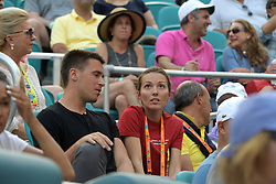 March 26, 2019 - Miami Gardens, Florida, United States Of America - MIAMI GARDENS, FLORIDA - MARCH 26: Roberto Bautista Agut of Spain defeats Novak Djokovic of Serbia during day 9 of the Miami Open presented by Itau at Hard Rock Stadium on March 26, 2019 in Miami Gardens, Florida...People: Jelena Djokovic. (Credit Image: © SMG via ZUMA Wire)