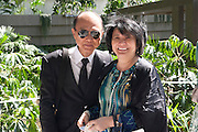 JIMMY CHOO; DATO YEOH SOO MIN, PRESS PREVIEW. The RHS Chelsea Flower Show 2011. The Royal Hospital grounds. Chelsea. London. 23 May 2011. <br /> <br />  , -DO NOT ARCHIVE-© Copyright Photograph by Dafydd Jones. 248 Clapham Rd. London SW9 0PZ. Tel 0207 820 0771. www.dafjones.com.