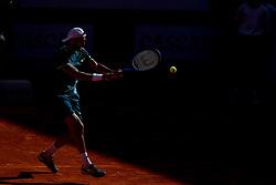 May 4, 2018 - Estoril, Portugal - Joao Sousa of Portugal returns a ball to Kyle Edmund of Great Britain during the Millennium Estoril Open ATP 250 tennis tournament quarterfinals, at the Clube de Tenis do Estoril in Estoril, Portugal on May 4, 2018. (Credit Image: © Pedro Fiuza via ZUMA Wire)