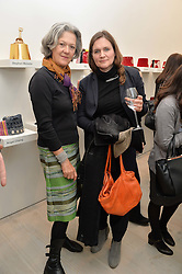 Left to right, ? and SOPHIE FIENNES at the launch of a new exhibition 'Le Tarbouche' by French-Lebanese artist Mouna Rebeiz held at The Saatchi Gallery, Duke of York's HQ, King's Road, London on 26th February 2015.