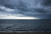 Moody sky over Cape Cod Bay, the Atlantic Ocean by Provincetown, Cape Cod, New England, USA