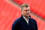 Oxford United Manager Karl Robinson during the EFL Sky Bet League 1 Play Off Final match between Oxford United and Wycombe Wanderers at Wembley Stadium, London, England on 13 July 2020.