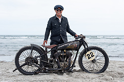 Jerry Chinn of Seattle, WA with his 1922 Indian Chief racer at TROG (The Race Of Gentlemen). Wildwood, NJ. USA. Sunday June 10, 2018. Photography ©2018 Michael Lichter.