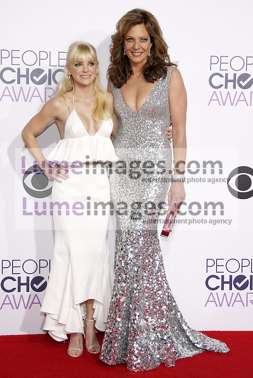 Anna Faris and Allison Janney at the 41st Annual People's Choice Awards held at the Nokia L.A. Live Theatre in Los Angeles on January 7, 2015. Credit: Lumeimages.com